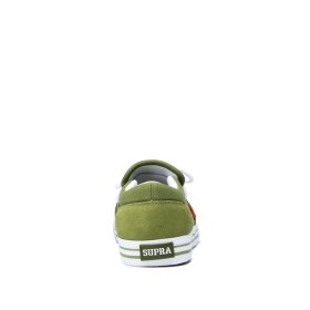 Supra Mens CUBA Moss/White/white Low Top Shoes | CA-36555